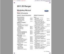 factory workshop service repair manual ford ranger 2011 2017