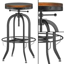 Vintage Industrial Bar Stool Industrial Vintage Bar Stool Black 3d Cgtrader