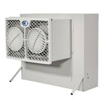 brisa 2800 cfm 2 speed front discharge window evaporative cooler