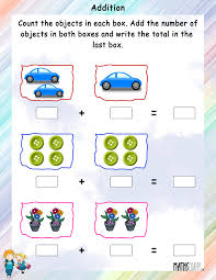 addition worksheets for grade 1 addition of objects mathsdiary