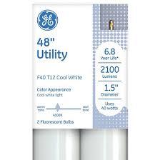 ge 40 watt t12 utility lfl light bulb 2 pack target