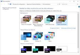 personnalisation du bureau windows 10 choisir un thème d affichage médiaforma