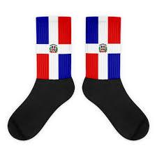Dominican Republic Flag Dominican Republic Flag Black Foot Socks Properttees