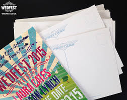 Save The Dates Postcards Festival Wedding Save The Date Cards U0027wedfest 2015 U0027 Wedfest