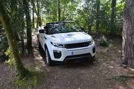 champagne range rover minute junior off road range rover evoque convertible driving