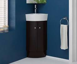 Cloakroom Basins With Pedestal Rivera Black 310 Cloakroom Corner Vanity Unit With Sink