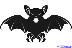 scary halloween cutouts bat drawings for halloween u2013 festival collections