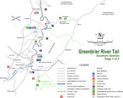 Virginia Rivers Map by Greenbrier River Rails To Trails