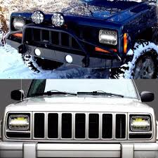 jeep light blue jeep wrangler driving light 7inch 45w 4x6 rectangle led headlight