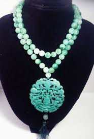 green agate necklace images Natural green agate necklace with nephrite green jade medallion jpg