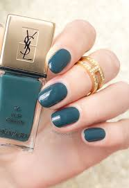 ysl fur green swatches review green nails sonailicious