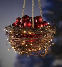 christmas hanging baskets with lights hanging grapevine basket holidays christmas diy decor etc