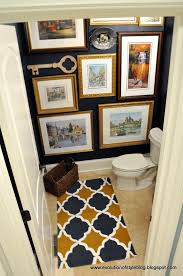 Dark Blue Powder Room Moody Blue Powder Room Reveal Evolution Of Style