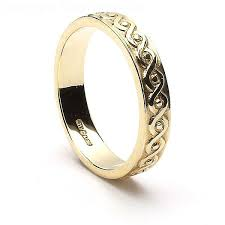 Celtic Wedding Rings by Eternal Celtic Knot Wedding Ring Silver 10k 14k Gold