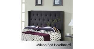 queen size milano charcoal bed headboard
