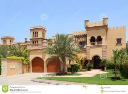Style House by Arabian Style House With Two Garages And Archs Stock Photo Image