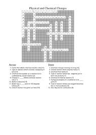 answers for physical and chemical changes crossword 8th 12th