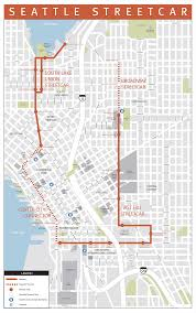 Map Of Seattle First Hill Streetcar Opens With Lessons For Future Lines The