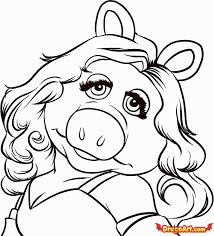 easy pig drawing coloring
