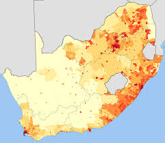 Map South Africa File South Africa 2001 Population Density Map Svg Wikimedia Commons