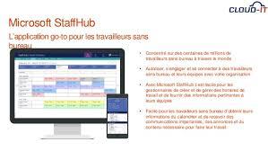 horaires de bureau staffhub une solution d office 365 pour les travailleurs sans bureau