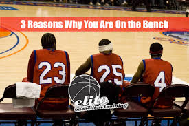 basketball player on bench 3 reasons why you are on the basketball bench