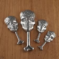 Sugar Skull Measuring Spoons Pewter CalaveraDay of the Dead