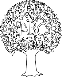 math abc tree borders coloring page wecoloringpage