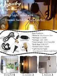 vintage pendant light socket with dimmer sopoby pendant lamp
