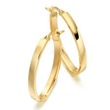 gold hoop earrings uk 9ct gold oval hoop earrings 0000532 beaverbrooks the jewellers