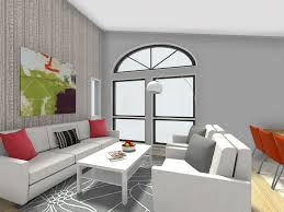 wallpaper accent wall living room with nice light gray and white