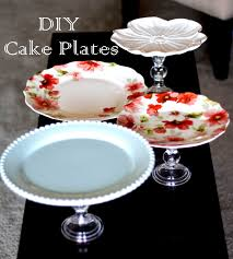 plates that stick to table diy cake plate s use dollar store candlestick holders and found