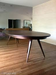 Expanding Tables Custom Solid Walnut Tripod Oval Expanding Dining Table By Brian