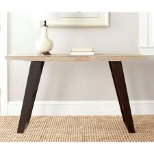 Safavieh Console Table Safavieh Waldo Natural And Black Brushed Console Table Amh4131a