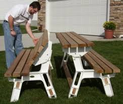Plans For Picnic Table Bench Combo by Kitchen Park Bench Turns Into A Picnic Table For Two Wood For