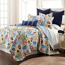 Fish Duvet Cover Whimsical Fish Quilt Set Beachfront Decor