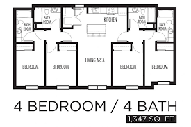 four bedroom floor plans uncategorized 2000 sq ft house floor plan wonderful with