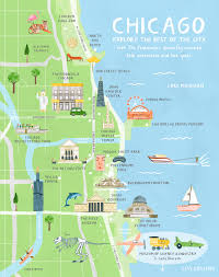 Chicago On The Map by Chicago Trip Guide Outdoor Recreation And Lake Michigan
