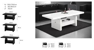 design couchtisch weiãÿ design couchtisch h 111 weiß hochglanz schublade höhenverstellbar