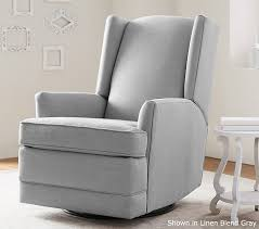 Reclining Rocking Chair Nursery Attractive Modern Wingback Glider Recliner Pottery Barn Of