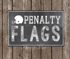 Football Penalty Flags Penalty Flags Football Birthday Decorations Football Party