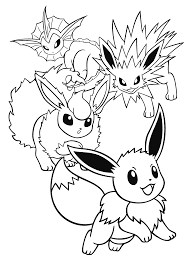 pokemon coloring pages flareon ijigen me