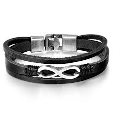 infinity charm leather bracelet images Bracelets tagged quot material_leather quot boniskiss jpg