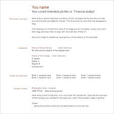 resume example templates free word pdf excel formats