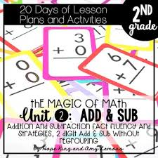 2nd grade magic of math unit 2 addition and subtraction no