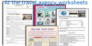 english teaching worksheets at the travel agency