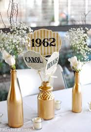 50th anniversary centerpieces 50th anniversary table decorations other decorations included 5