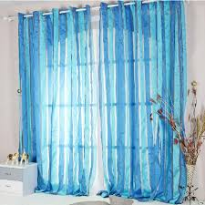 Sheer Blue Curtains Striped Sheer Curtains In Mediterranean Style Buy Purple Sheer