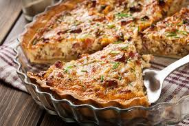 cuisine quiche lorraine quiche lorraine with bacon and cheese stock image image