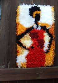 african lady latchhook rug african american art black women wall